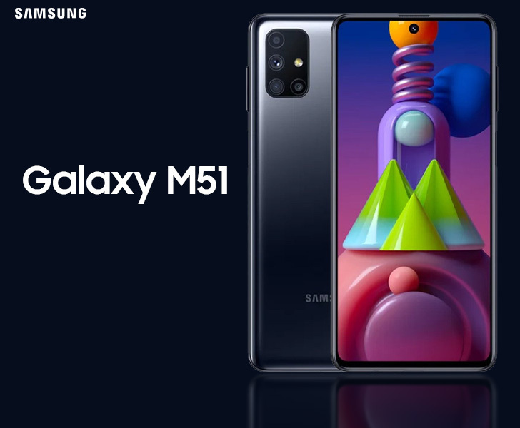 Samsung Galaxy M51 With 7 000mah Battery Quad Rear Cameras Launched Price Specifications The Market Activity