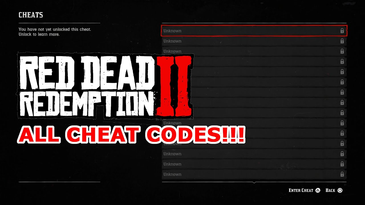 Cheat Codes For Red Dead Redemption Xbox 360 Edition