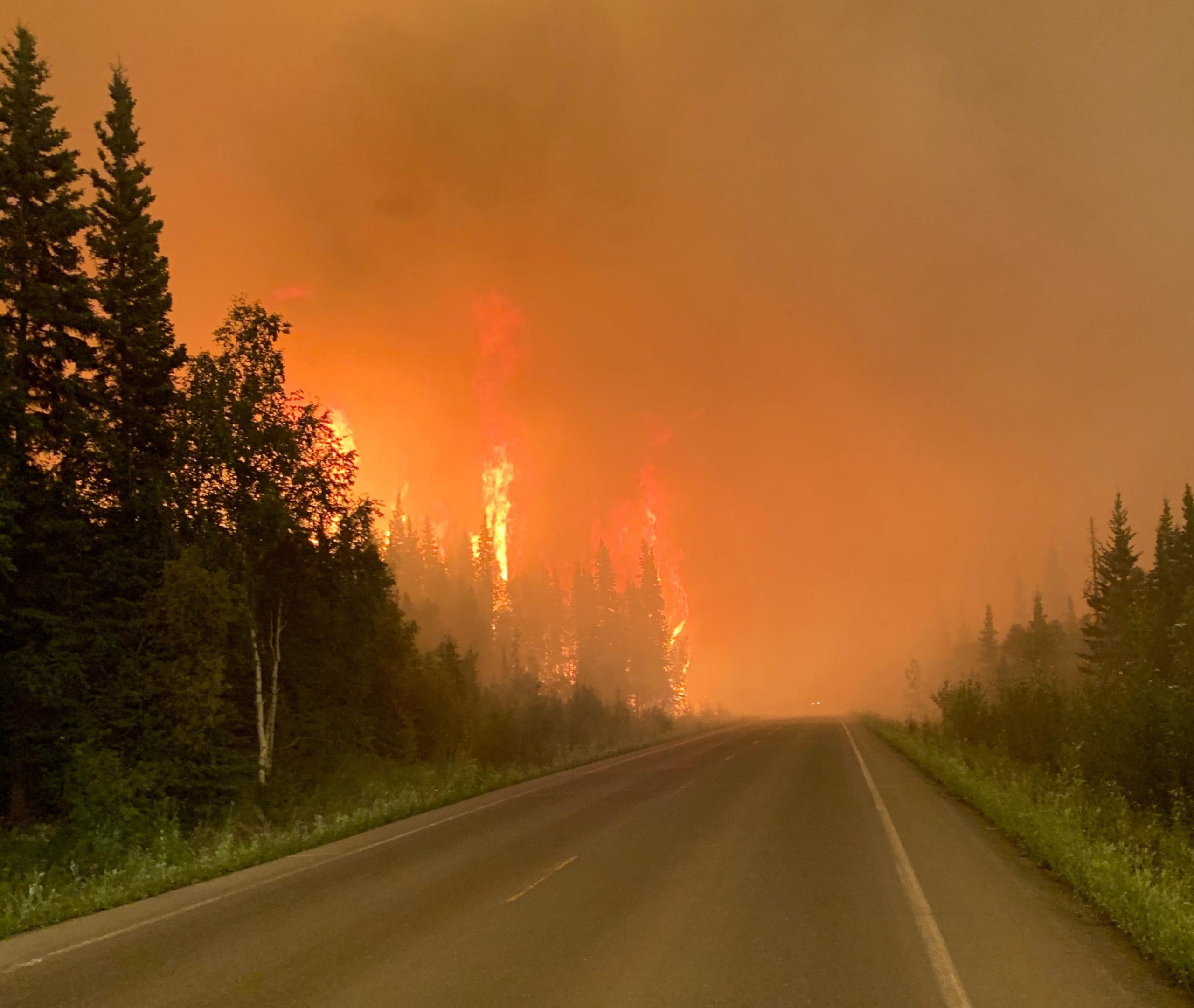 Highway closures in effect for Telegraph Fire burning near Superior,