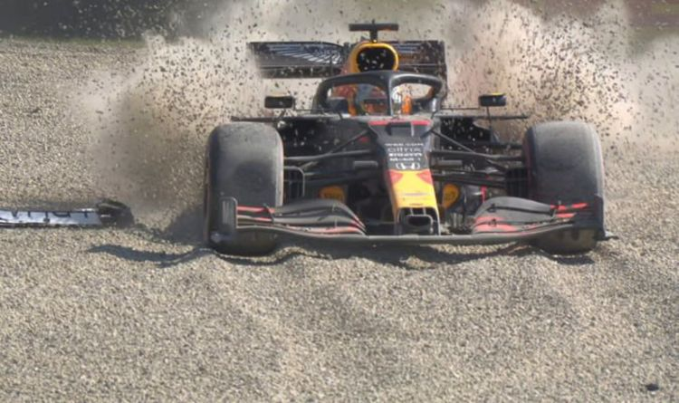 Verstappen crashed out after first lap battle with Hamilton, Injuries?