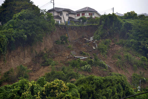 More than 20 Missing In Central Japan After Mudslide Sweeps Away Houses