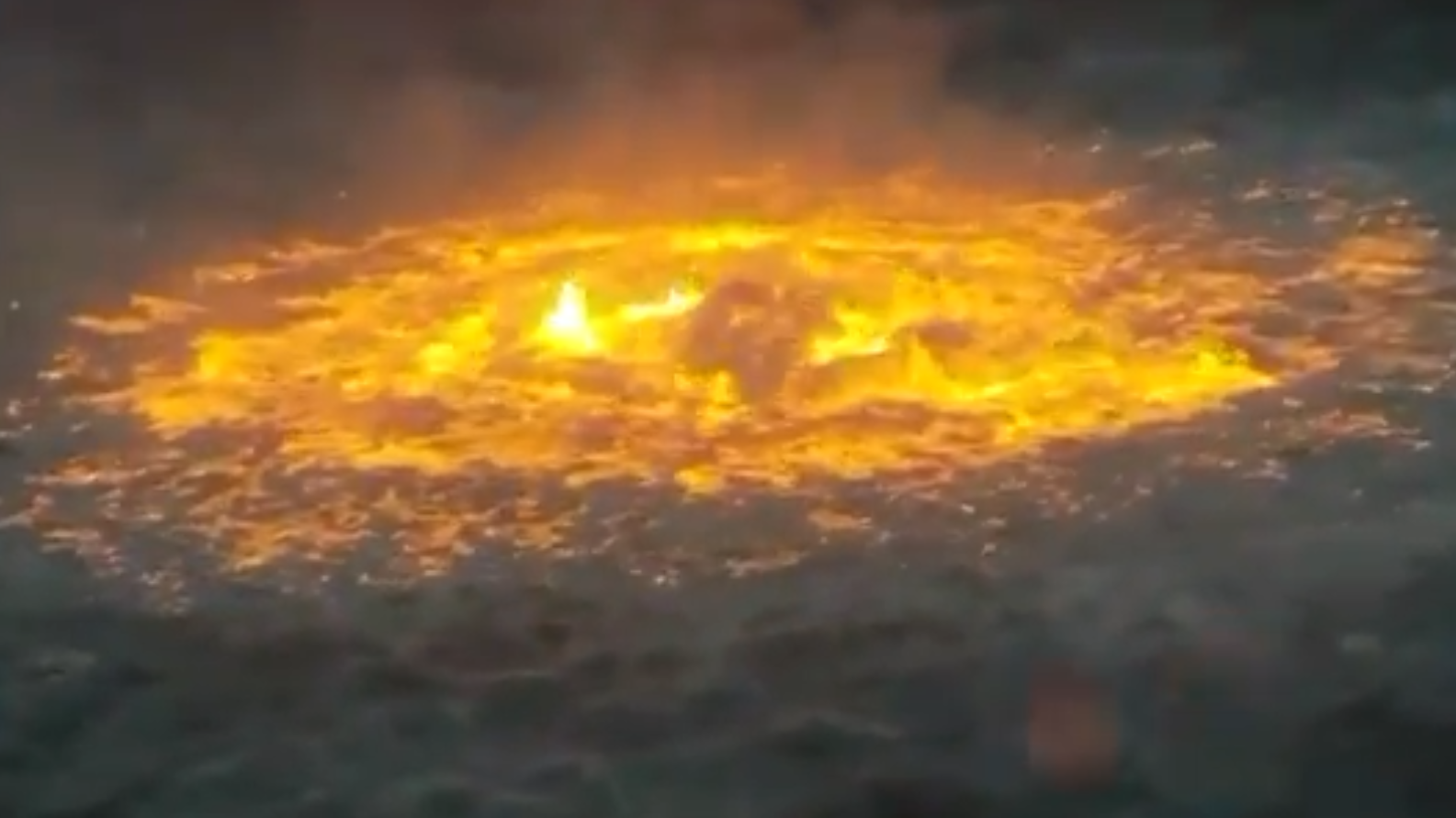 Flames Bubbling Up in Gulf of Mexico After pipeline ruptures