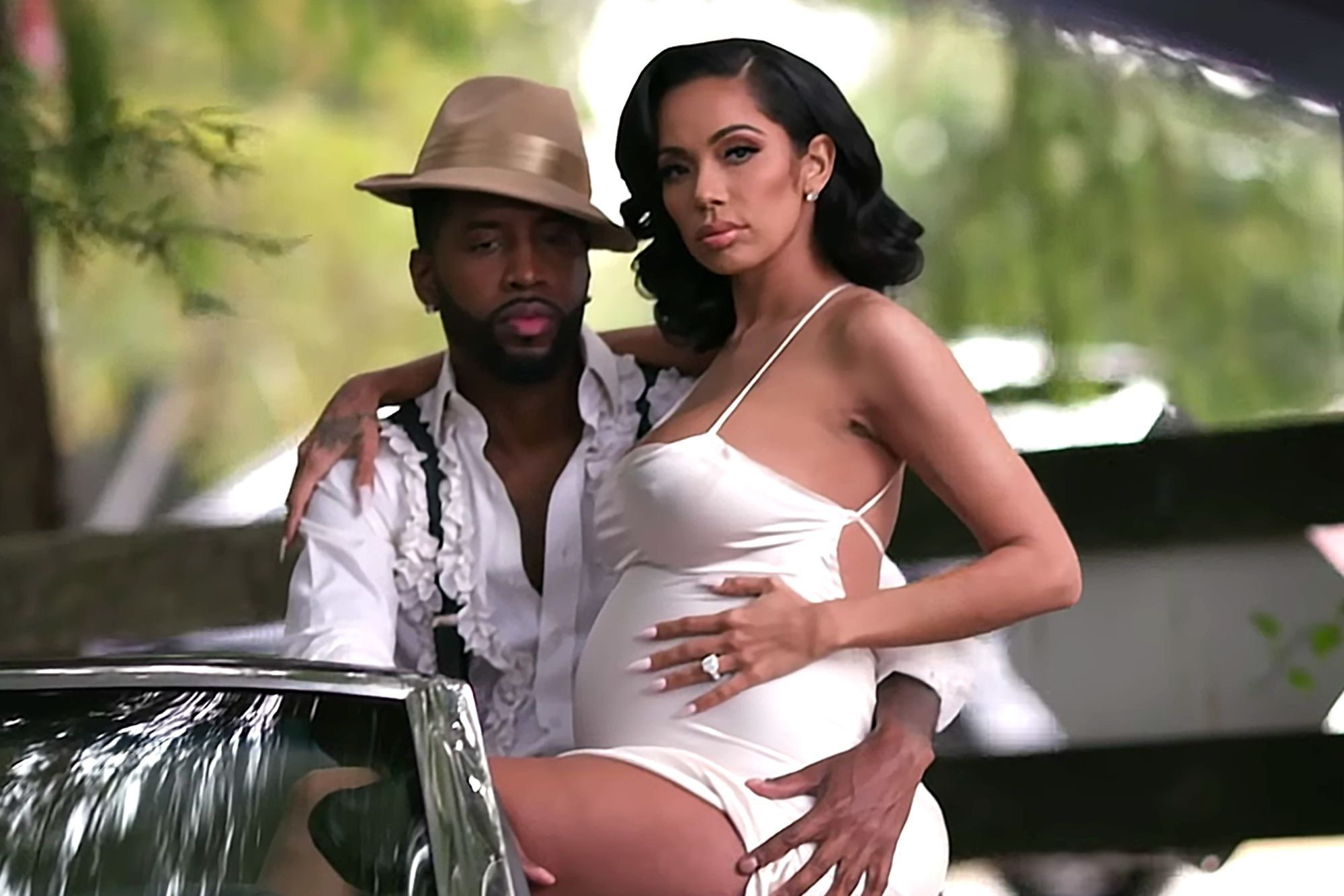 ERICA MENA IN THE HOSPITAL W/ NEWBORN SON AND SAFAREE PARTIES IN JAMAICA, ARE THEY TAKING BREAK?