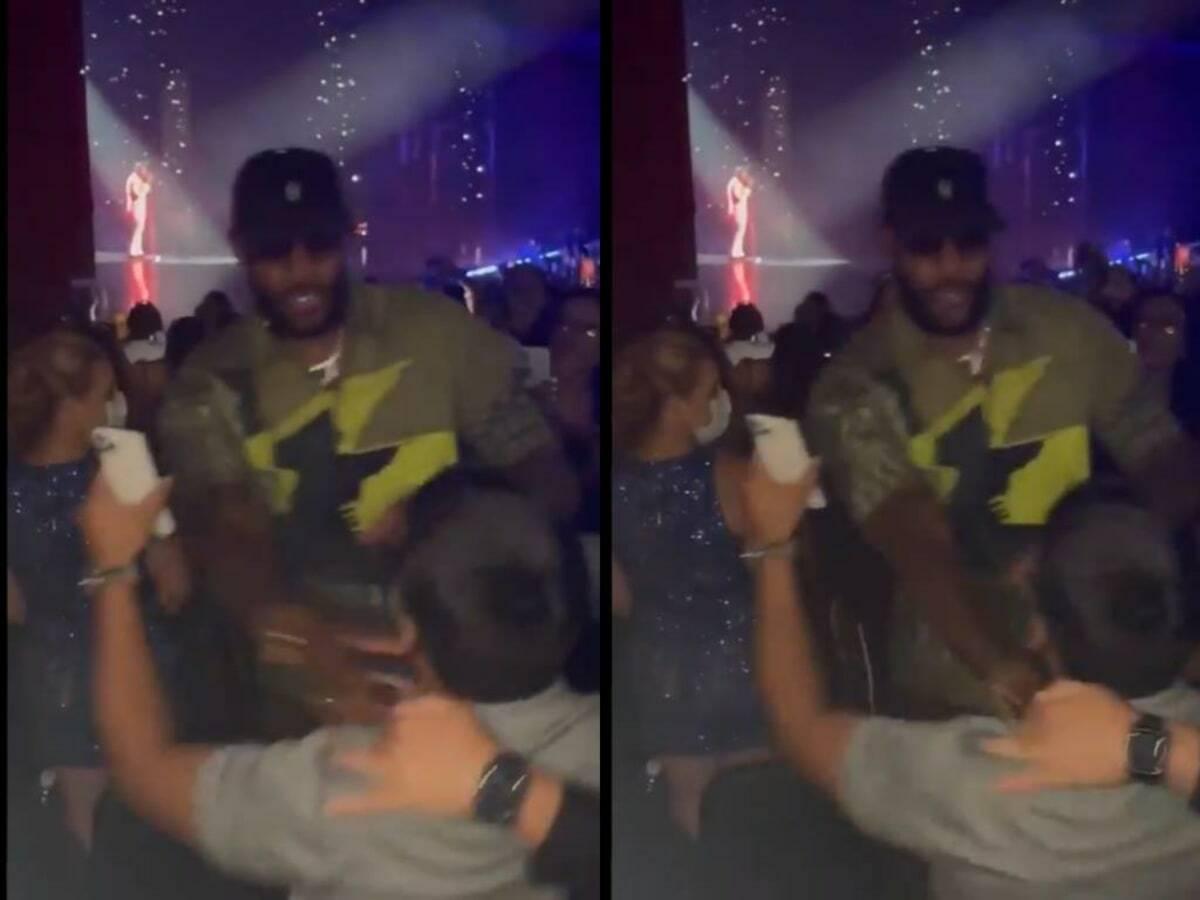 LeBron James Badly Pushes Away Fan at Usher Concert in Las Vegas, Depressing!