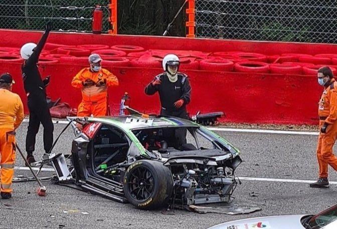 Car Crash: Dangerous, Aitken suffered broken collarbone, Many other players Injured