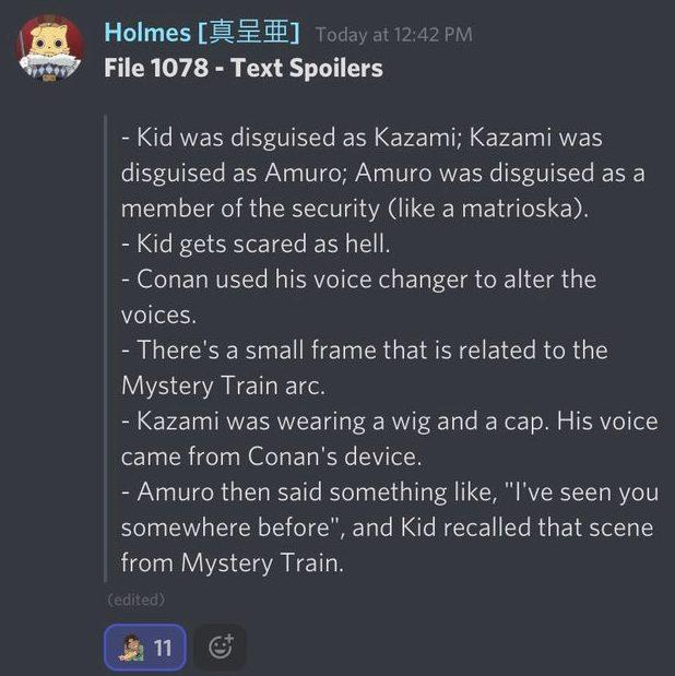 Detective Conan Chapter 1078